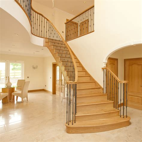 oak stair banister oak handrails for stairs haldane timber handrails