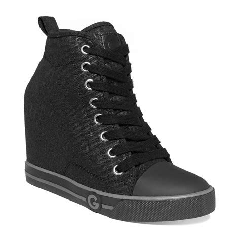 womans high top sneakers g by guess womens majestey wedge high top sneakers in