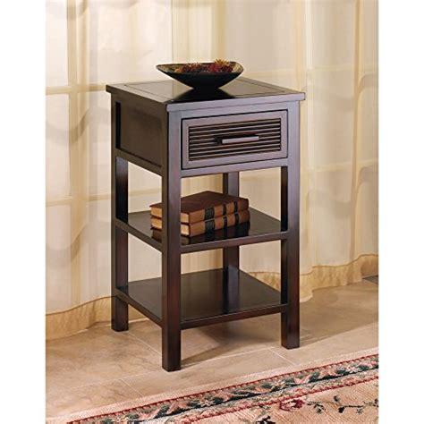 modern end table with shelves modern dark brown espresso wood drawer shelf nightstand