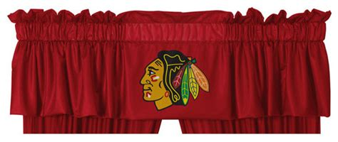 chicago blackhawks bedroom decor nhl chicago blackhawks hockey locker room window valance