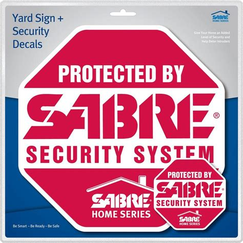 sabre 174 security system yard sign security decals the