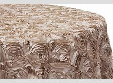 "Wedding Rosette SATIN 120"" Round Tablecloth - Champagne ... Linens Things"