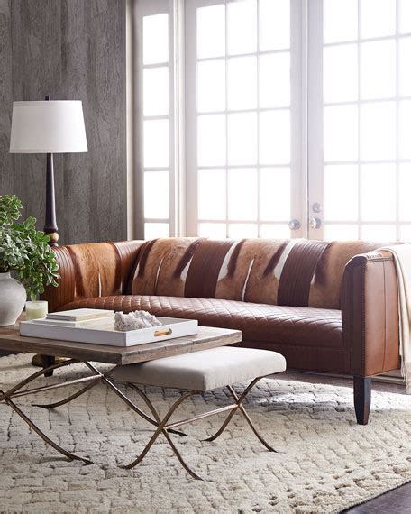 hickory tannery sofa hickory tannery hairhide leather sofa