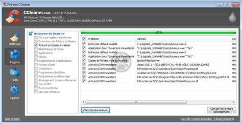 ccleaner là gì ccleaner nettoyage du registre windows de la base de