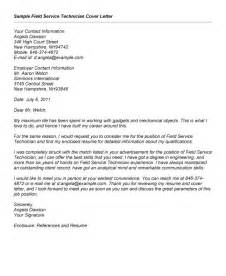 field service technician cover letter cover letter field 28 images 14 sle cover letter for
