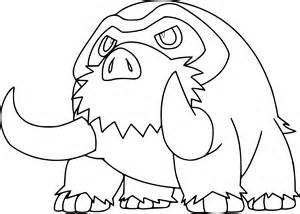 coloriage mammochon pokemon 224 imprimer