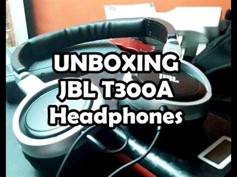 Headset Jbl T300 unboxing jbl bass t300 a from lazada