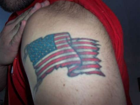 american flag tattoo on shoulder for men tattooimages biz