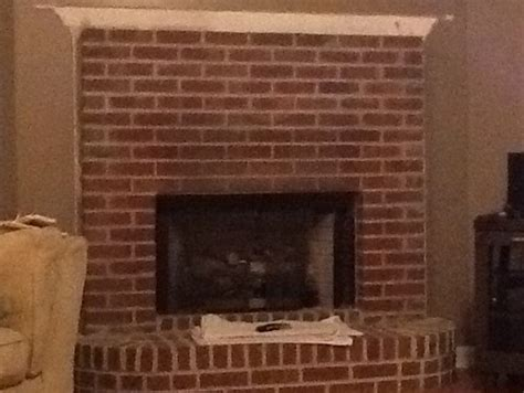 redoing brick fireplace corner brick place redo