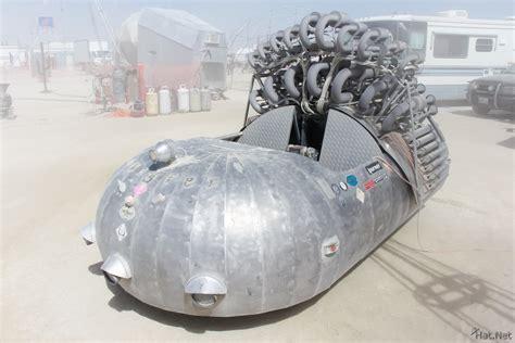 future flying cars shark bar monster cars burning man
