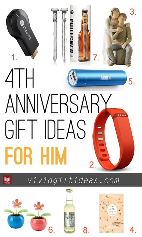ideas for him on a budget 4th wedding anniversary gift ideas anniversary gifts