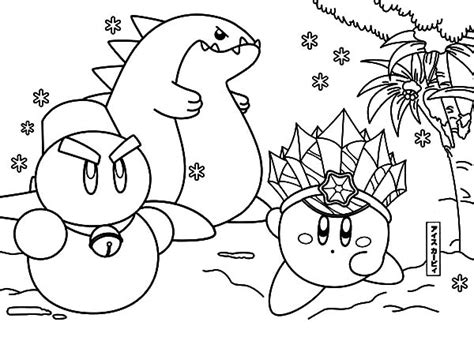 kirby yarn coloring pages 29 best coloring book kirby epic yarn coloring pages