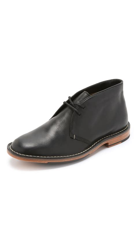 cole haan grover chukka boots in black for lyst