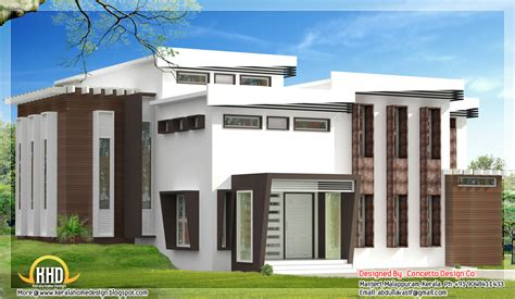 2960 sq ft 4 bedroom indian house design front view 2960 sq ft 4 bedroom modern house plan indian home decor
