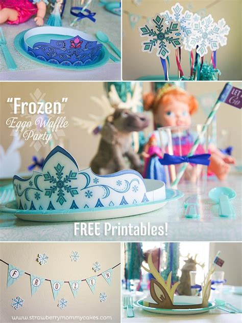 printable party decorations frozen kara s party ideas quot frozen quot themed waffle birthday party