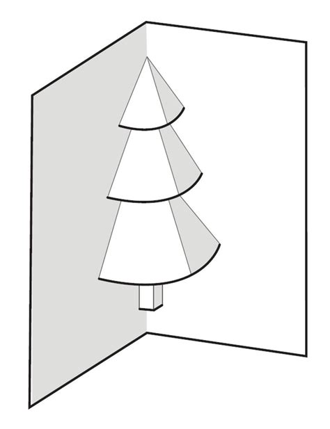 card three picture template 3d tree card template best template idea