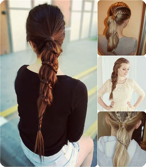 extension in back and side hair 7 easy and chic ponytail hairstyle for girls back to