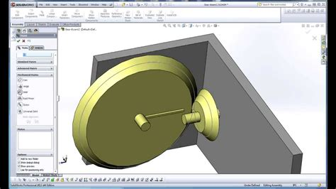 solidworks 2013 tutorial simple animation youtube solidworks simple bevel gear friction wheel demo using