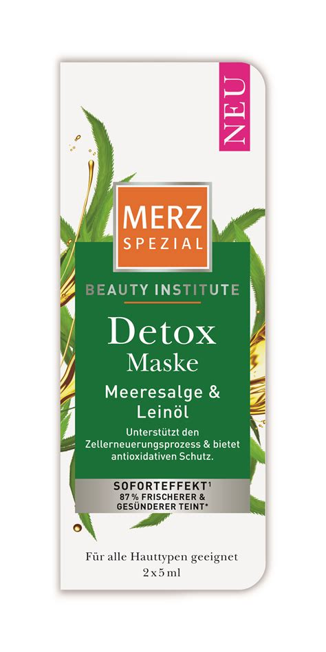 Detox Institute die neuen merz spezial gesichtsmasken merz spezial