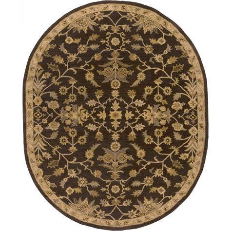 black oval area rugs artistic weavers zari black 6 ft x 9 ft oval indoor area rug s00151007672 the home depot