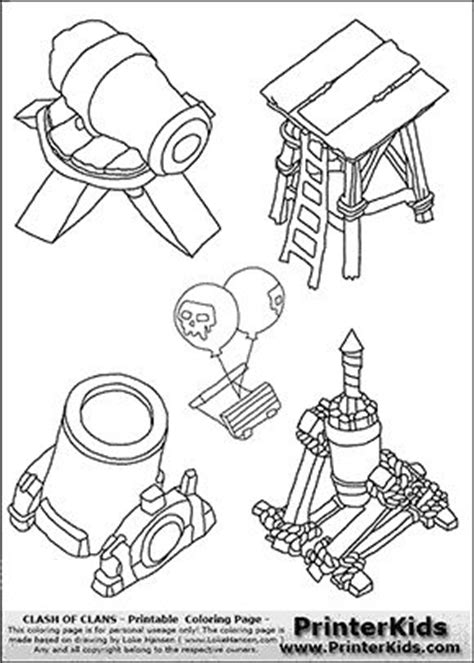 Clash Of Clans - Tower Group - Coloring Page | Coloring