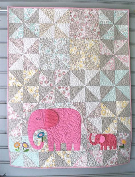 E Quilt Patterns by E Is For Elephant Quilt Pattern
