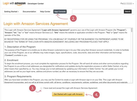 amazon help how to register an application using amazons appconsole