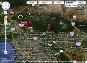 interactive wildfire maps southern california fires