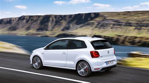 HD Volkswagen Polo GTI White Back View Wallpaper