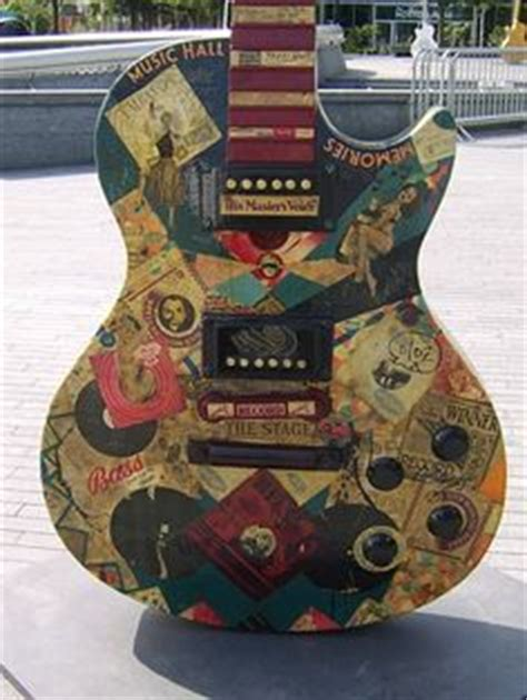 How To Decoupage A Guitar - easy to make comic book guitar design how to decoupage