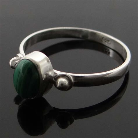 M Sz M by Malachite 925 Sterling Silver Ring Band Uk Sz M Designer