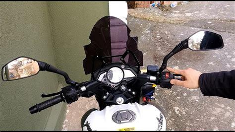 motosiklet ayna uzatma aparati ve montaji ayna