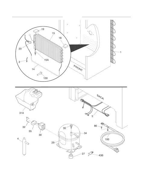 Frigidaire model FFU14F5HWN upright freezer genuine parts