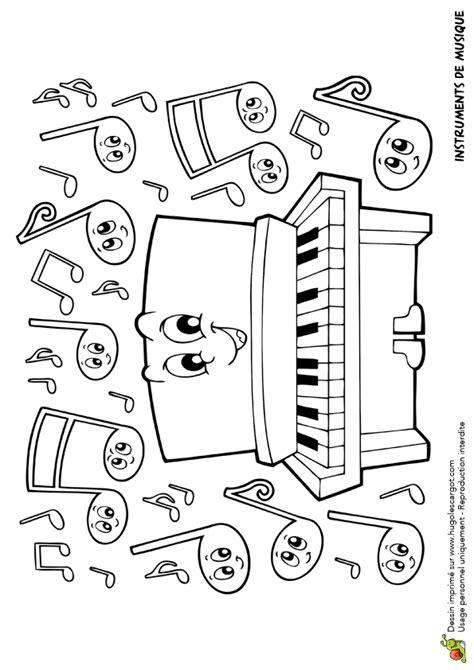 Dessin à colorier Instrument de musique, le piano