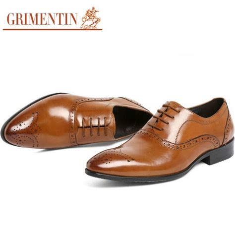 Fashion Leather Formal Shoes grimentin fashion shoes oxford genuine leather classic