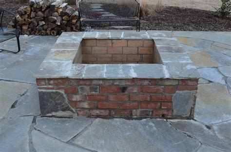 Astonishing Square Brick Fire Pit Designs Garden Landscape Firepit Bricks