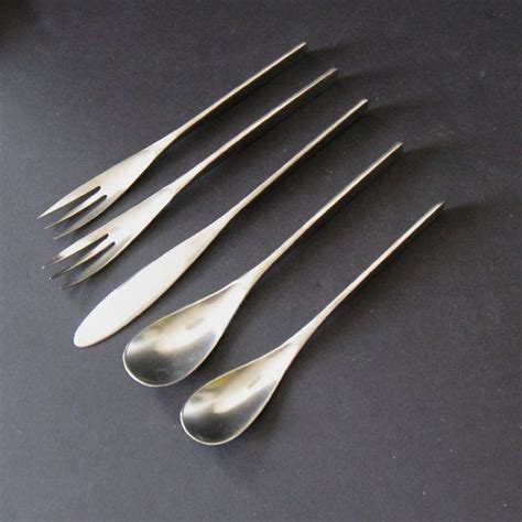 artistic flatware rare sival unique mod flatware four 5piece place by