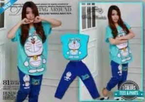 Setelan Denim Magic Doraemon setelan doraemon s180 cotton combed kaos cewek doraemon