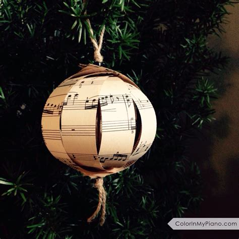 sheet music christmas ornament gift idea for piano
