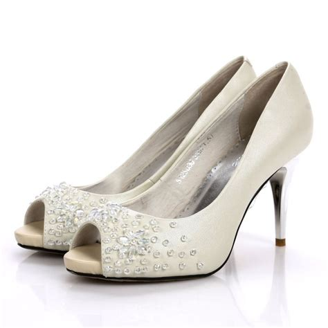 silver rhinestone high heel shoes