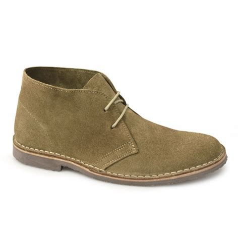 cotswold mens suede leather lace up desert boots sand