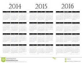 calendar 2014 2015 2016 stock images image 32682934