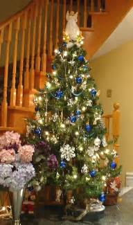 Blue and silver christmas tree decorated christmas tree pictures
