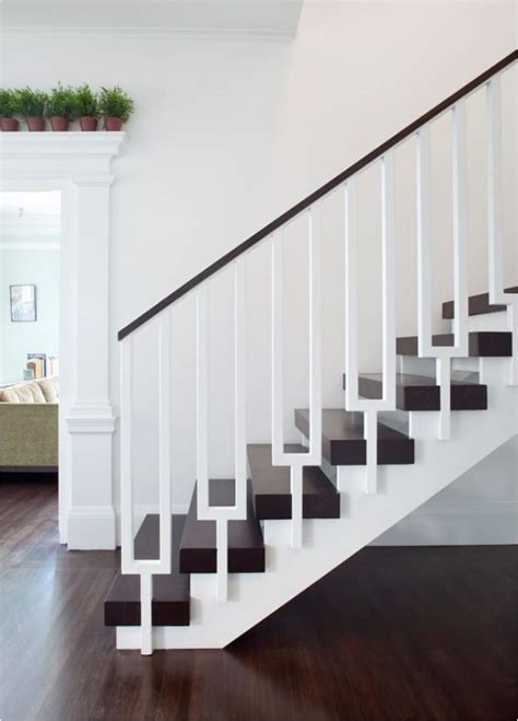Modern Banisters And Handrails by Stunning Stair Railings Centsational
