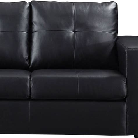 pu leather couch nikki 2 seater pu leather sofa couch in black buy furniture