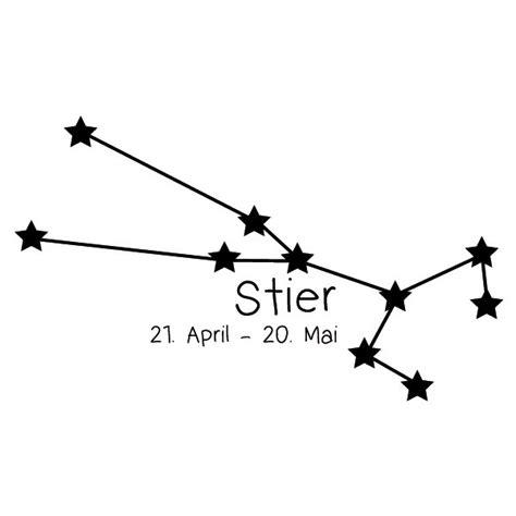 Sternzeichen Krebs Stier by Sternbild Stier Wandtattoo