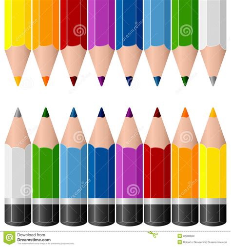 colorful pencils borders stock photos image 32086663