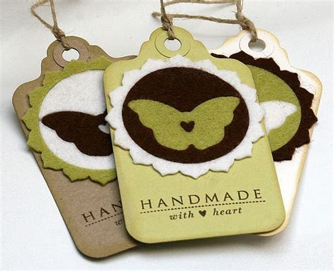 Handmade Tags For Crafts - felt handmade tags for handmade gifts tags