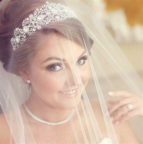 wedding hair ideas with veil and tiara wedding crown and veil www pixshark images