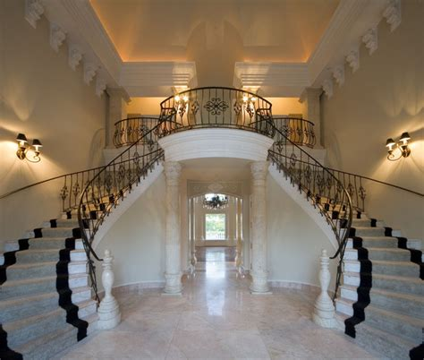 grand foyer classical grand foyer double staircase for a mediterranean